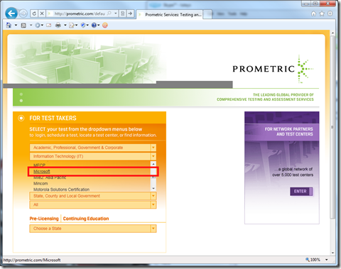 Prometric Test Center